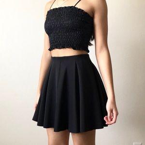 Topshop Full Black Circle Skirt